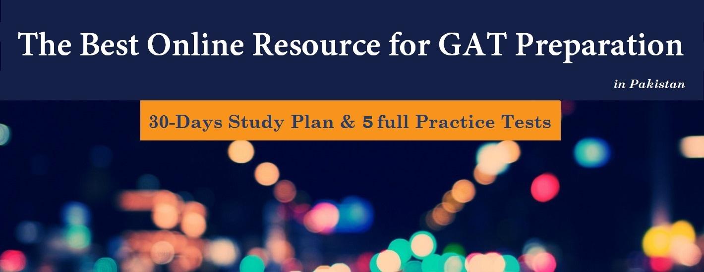 GAT 30 Days Study Plan
